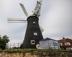 Holgate Windmill, September 2015 - 2 (nican45) Tags: york slr mill windmill canon yorkshire roundabout sails sigma wideangle september cap sail dslr 1020mm 1020 holgate fantail 2015 hwps 1020mmf456exdc holgatewindmill eos70d 27092015