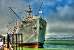 TG 15 08 10 041 (pugpop) Tags: sanfrancisco california vacation fishermanswharf sanfranciscobay hdr marinelayer libertyship 2015 dockbay ssjeremiahobrien