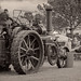Vintage traction engine at work