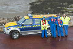 Quicksand Rescue (Robert McEwen) Tags: sea coastguard rescue danger coast seaside nikon mud tide ambulance coastal fireman emergency morecambe recover tidal 999 rnli quicksand lifesaving morecambebay emergencyvehicle hmcoastguard northwestambulanceservice lancashirefireandrescueservice morecambecoastguard