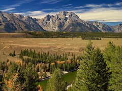 Mount Moran, WY 8880 (Petr Bednarik) Tags: autumn usa mountains fall nature grass pine clouds forest river landscape nationalpark scenic wyoming mountmoran aspen grandtetonnationalpark