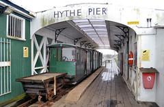 Hythe Pier Tramway (R~P~M) Tags: uk greatbritain sea england electric train coast pier unitedkingdom railway hampshire southampton narrowgauge hythe hants