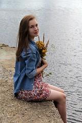 . (alexandra.nikishina) Tags: flowers summer people girl canon denim portret