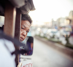 [Explore] Thailand - The driver (Cyrielle Beaubois) Tags: portrait people man square thailand bokeh thalande explore driver 2015 canonef50mmf14 canoneos5dmarkii cyriellebeaubois sukkhotha