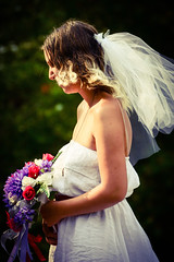 Scenes from a Beautiful Wedding (Vegan Butterfly) Tags: flowers wedding people woman love beautiful outside photography bride dress outdoor ceremony marriage romance event relationship romantic bouquet