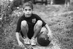 orphaned boy (Laszlo Horvath 1,5 M+ views tx :)) Tags: orphans nikon portrait football portraiture nikond7100 nikon50mmf18g