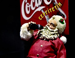 Merry Christmas!!! (Rupam Das) Tags: nikon nikkor d810 1024mm santaclaus christmas coke cocacola red beard white holidays portrait travel drinking gulp happiness