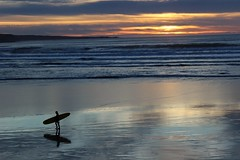 Sunset surfer (sheelaghgleeson) Tags: surfer lahinch wildatlanticway sunset surfcity