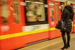 underground (@ga) Tags: people warsaw metro ubahn underground