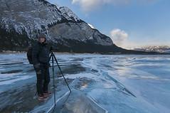 Shooting Abraham (Len Langevin) Tags: alberta canada winter ice rockies rocky mountains people nikon d300s tokina 1116 theintrepidsandraherber