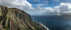 Madeira - south west coast (Rafael Zenon Wagner) Tags: nikon d810 portugal madeira küste coast klippe cliff ocean ozean atlantik meer sea see blue blau felsen rocks wolken clouds landscape outdoor landschaft kliff felsformation steilküste grat abhang berg hügel 50mm serpentine panorama storm sturm switchback
