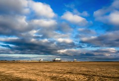 feels like heaven (claudia.kiel) Tags: deutschland germany schleswigholstein stpeterording spo nordsee northsea strand beach pfahlbau himmel sky cloudscape clouds landschaft landscape wolkenlandschaft wolken