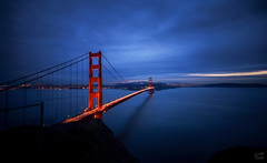 Golden Gate (Emrrado) Tags: sf goldengate bluehour goldengatebridge dusk ocaso nikond610 d610 nikon tokina1116mm tokinalens tokina11mm 16mm puente bridge longexposure nd1000 leefilter california sanfrancisco cloudscape skyscape seascape pacificocean bayarea mountains peninsula emrrado