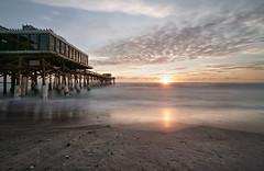 Shells and clouds. (Jill Bazeley) Tags: cocoa beach pier florida brevard county space coast sunrise dawn piling tiki hut sony a6300 sel1018 1018mm atlantic ocean seascape landscape shells seaside shore sea