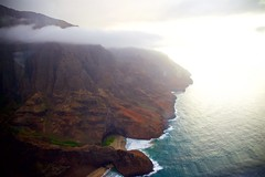 Na Pali Coastline (cookedphotos) Tags: canon 5dmarkii travel hawaii kauai helicopter flight safarihelicopters clouds napali coastline napalicoast red mountain mountains ocean