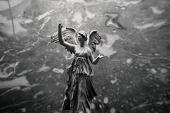 When the angels descend... (Rupam Das) Tags: nikon nikkor d810 sculpture art monochrome thelouvre paris france travel angel wing religious christianity blackandwhite bw bnw indoor statue