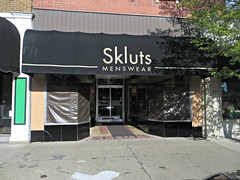 Skluts Menswear, Morris, IL (stoneofzanzibar) Tags: storefronts terrazzo vitrolite morris sklutsmenswear grundycounty closed