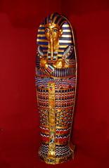 Egyptian Sarcophagus (Jay Costello) Tags: birdkingdom aviary niagarafalls ontario egypt egyptian sarcophagus nile gold blue red