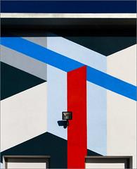 Rennes - Lines (Hervé Marchand) Tags: bretagne rennes colours lines diagonal building details triangle sun