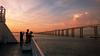 Night Falls at the Bay (Rodrigo Neves) Tags: sunset pordosol guanabara bay offshore ship boat bridge vessel sea mar water silhouette backlight clouds lumia