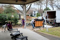 Our piano arrives (Lars Plougmann) Tags: frontporch austin expectations truck lorry piano delivery dscf8092