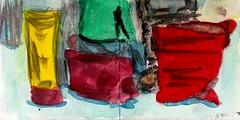 wir haben am Fenster gestanden und Du vor dem Fernsehn gesessen. Gern hätten wir Dich zum Abendessen - bei uns (raumoberbayern) Tags: sketchbook skizzenbuch tram munich bus strasenbahn pencil bleistift ballpoint paper papier robbbilder stadt city landschaft landscape spring frühling summer sommer lake trip bavaria germany airport auto car fernsehen wohnzimmer tv livingroom münchen