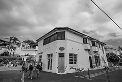 DSC00079 (Damir Govorcin Photography) Tags: store quaint people building architecture marine parade manly beach sydney natural light composition perspective creative zeiss 1635mm sony a7rii sky clouds