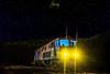 El tren llega a Zarandas (flamesay) Tags: nerva nocturna riotinto tren lightpainting huelva noche night lights train stars