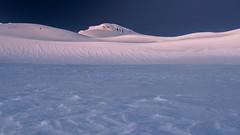 Snow Waves (blue polaris) Tags: new zealand sunrise dawn snow mt mount ruapehu tongariro national park landscape ice paretetaitonga dome summit plateau volcano