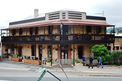 Uraidla Hotel (mikecogh) Tags: uraidla hotel pub uraidlahotel corner sandstone balcony signs bent leaning