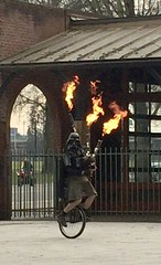 Flame throwing bagpiper on a unicyle (s.jean.c) Tags: bagpiper darthvader unicycle flamethrower portland oregon keepportlandweird unipiper