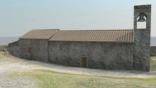 ricostruzione virtuale castello dicontignano 06