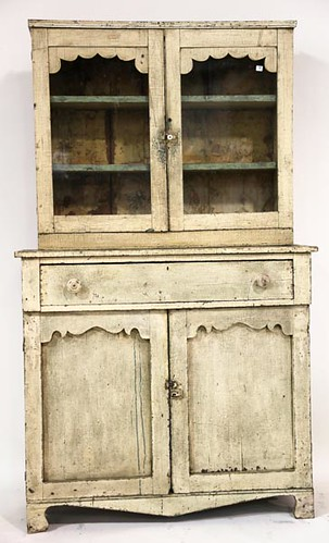Painted White Step Back Cupboard ($784.00)