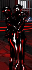 Pure Latex (alexandriabrangwin) Tags: world lighting red black club computer lesbian dance 3d graphics couple shiny suits rubber together secondlife virtual wife latex total cgi enclosure catsuits therubberroom mondybristol alexandriabrangwin