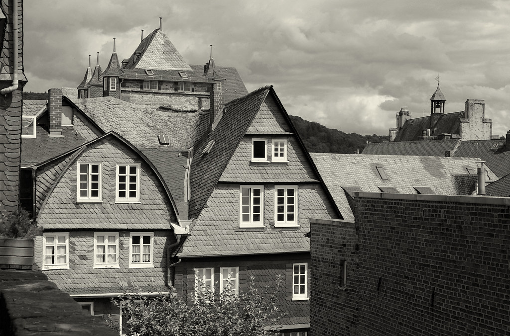 Marburg (Lahn) / Hessen: Verschieferte Häuser / Houses With Slate Shingles  (wwwuppertal