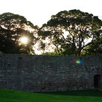 setting sun at Craigmillar Castle
