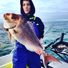 James Papas with an 8kg Snapper out of Melbourne, Australia