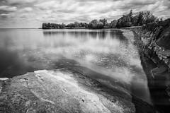 Lake Champlain Shores from Shelburne Farms (emrudaphotography) Tags: longexposure blackandwhite nature nikon vermont lakechamplain shelburnefarms d610 bwnd110 bwcpl nikon20mmf18