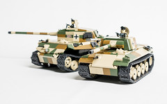 COBI King Tiger and Panther MOD (Adam Purves (S3ISOR)) Tags: world two brick army war king tank lego military tiger small wwii german ww2 block comparison panther tanks cobi panzer luftwaffe wermacht 2460 knigstiger 2466 panzerkampfwagen