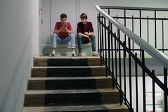 dormitory (osipova_polina) Tags: friends people boys students stairs pentax smoke dorm guys smoking saintpetersburg dormitory spb piter pentaxkx pentaxda