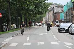 Sykkelfelt Kjpmannsgt. 0031 (Miljpakken) Tags: trondheim rdt sykling bymilj gatemilj miljpakken syklister bygate bytransport bytrafikk miljopakken sykkelveg sykkelanlegg bysykling