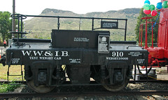 Western Weighing & Inspection Bureau # 910 test weight car 1 (James St. John) Tags: railroad scale car museum golden colorado track bureau inspection scales western wyoming weight weighing