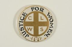 Church League for Women's Suffrage badge, c.1913.