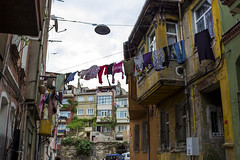 Hanging Laundry (kaizerdar) Tags: old city urban house building abandoned architecture pattern decay istanbul neighborhood laundry hanging residence washing slum periphery balat
