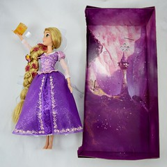 2015 Rapunzel Deluxe Feature Singing 16'' Doll - Disney Store Purchase - Deboxing - Removed from Backing - Lying Down Next to Backing - Full Front View (drj1828) Tags: us singing deluxe lit rapunzel purchase feature disneystore tangled 2015 16inch deboxing