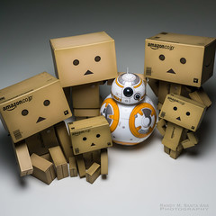 BB-8 with the Danbo Family. (Randy Santa-Ana) Tags: family starwars danbo sphero revoltech bb8 danboard theforceawakens bb8droid spherobb8