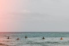 Hola ola (lucia busfyova) Tags: ocean nature water grancanaria waiting outdoor surfing spot mans olas laspalmas lpa surfspot lacicer colorlake