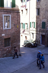 Out of the Window (wandervox) Tags: italy window tuscany surprise gr siena ricoh ricohgr peering