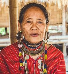 Woman with big earring (TU NHAT VU) Tags: travel people woman thailand hill earring karen human longneck chiangmai tribe ethnic chiangrai akha amazingthailand