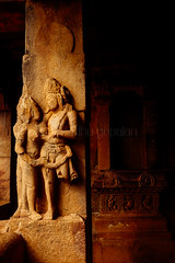 A couple in love (Madhu Gopalan) Tags: travel india temple karnataka chalukya aihole durgatemple